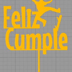 Download STL files Topper Happy Birthday Cake, Chapu