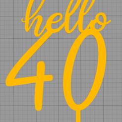Download 3D model Topper hello 40, Chapu