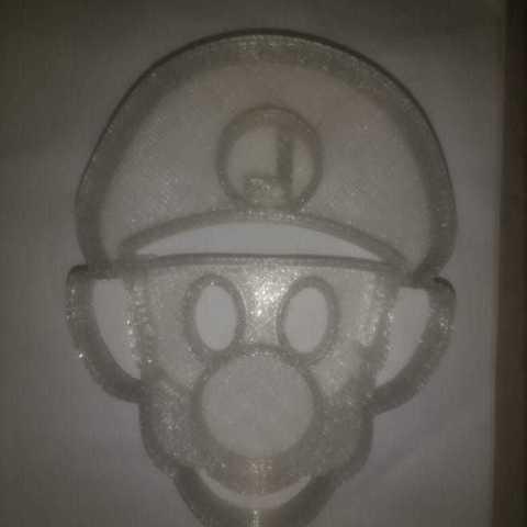 Luigi.jpeg Download STL file Mario Bros. Luigi and Yoshi cookie cutter • 3D printing model, Chapu