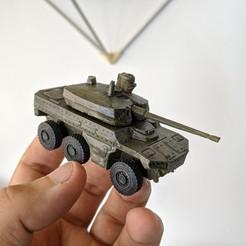 Descargar archivo STL Vehículo militar Nexter Jaguar 6x6 EBRC • Plan para la impresión en 3D, guaro3d