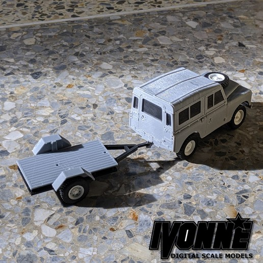 Download free STL file 1:43 Scale Small Bed Trailer for RC Models, guaro3d