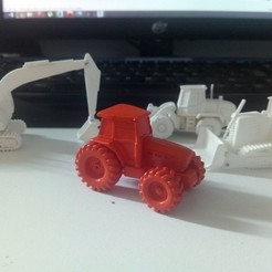 Free 3D model Easy to print Generic Tractor (esc: 1: 100), guaro3d