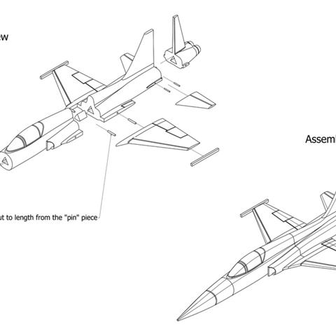 Capture d'écran 2017-04-25 à 19.35.15.png Download free STL file Easy to print T-38 Talon aircraft scale model (esc: 1/64) • Design to 3D print, guaro3d