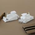 Free 3D printer files  Easy to print Generic Bulldozer (esc: 1:100), guaro3d