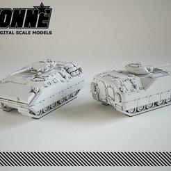Descargar archivo STL XM723 MICV Vehículo militar • Plan para la impresión en 3D, guaro3d