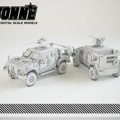 Descargar modelos 3D Joint Light Tactical Vehicle (JLTV) Vehículo militar, guaro3d