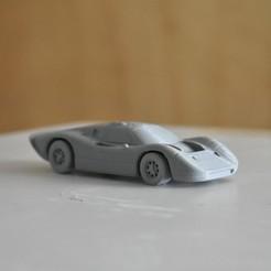 Imprimir en 3D Ford GT40 Mark IV Le Mans coche de carreras, guaro3d
