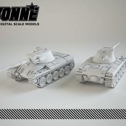 Descargar modelos 3D para imprimir El tanque militar Indien Panzer, guaro3d