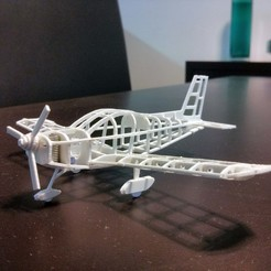 Free 3d printer model Zlin Z-242 frame model (esc: 1/64) (No 3D print, CNC routing), guaro3d