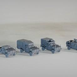 resin Models scene 1.246.jpg Download STL file Joint Light Tactical Vehicle JLTV Family group 1:64 Scale Model • 3D printing model, guaro3d