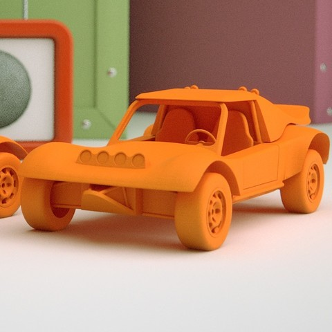 Render 1 2.jpg Download STL file Rally Buggy Scale model • Object to 3D print, guaro3d
