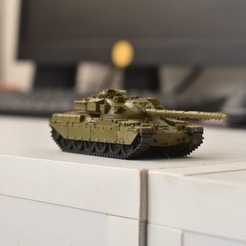 Descargar archivo 3D FV4201 Chieftain británico MBT, guaro3d