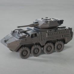 resin Models scene 1.216.jpg Download STL file Stryker Dragoon 30mm RWS 1:64 Scale Model • Design to 3D print, guaro3d