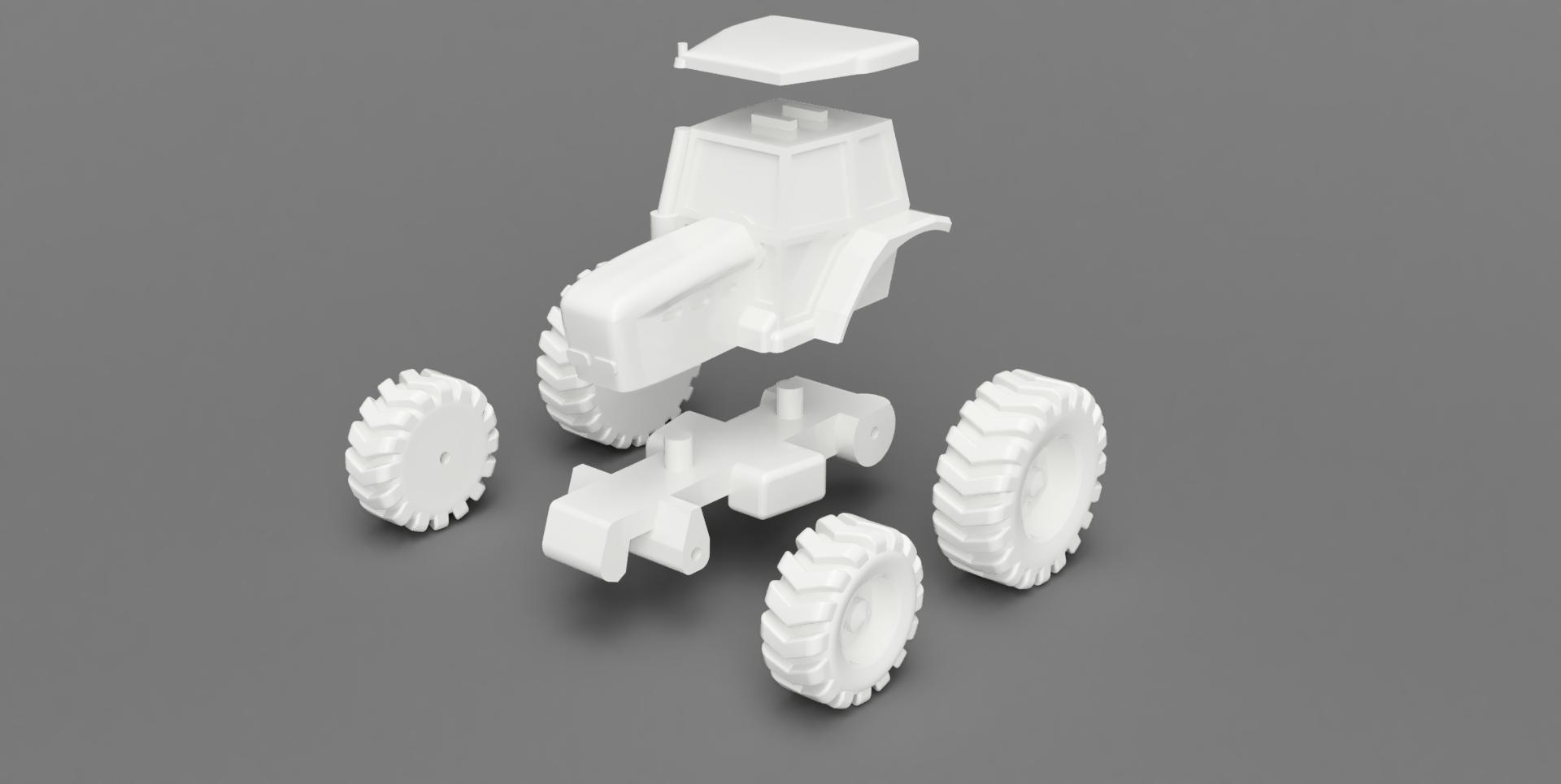 Renders 2.jpg Download free STL file Easy to print Generic Tractor (esc: 1: 100) • 3D printing template, guaro3d