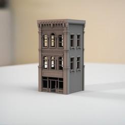 resin Models scene 2.421.jpg Télécharger fichier STL Mur en briques Bâtiment néoclassique I • Design imprimable en 3D, guaro3d