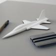 Download free 3D printer designs Easy to print T-38 Talon aircraft scale model (esc: 1/64), guaro3d