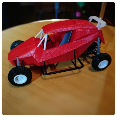 3D printer models Demo Hawk Buggy scale model, guaro3d