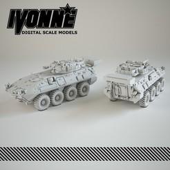 Impresiones 3D Vehículo militar LAV III Kodiak, guaro3d
