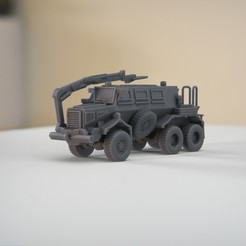 resin Models scene 2.368.jpg Download STL file Buffalo Mine Protected Vehicle 1:64 Scale Model • 3D printable design, guaro3d