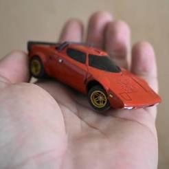 DSC_0554.jpg Télécharger fichier STL Modèle de radiocommande Lancia Stratos à l'échelle 1:43 • Modèle pour imprimante 3D, guaro3d