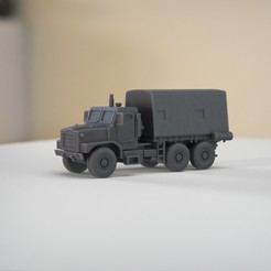 resin Models scene 2.397.jpg Download STL file MK23 USMC Cargo Truck 1:64 Scale Model • 3D printable design, guaro3d