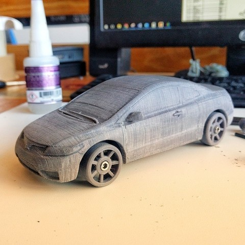 Download free 3D printer model Honda Civic 2007 coupe body for OpenZ v16c chassis, guaro3d
