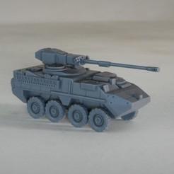 resin Models scene 1.222.jpg Download STL file Stryker M1128 MGS 1:64 Scale Model • 3D printer design, guaro3d