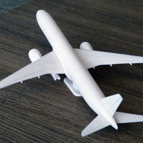 Boeing 777X aircraft scalemodel 3D model, guaro3d