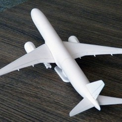 3D print files Boeing 777X aircraft scalemodel, guaro3d