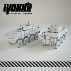 Descargar archivos STL Vehículo militar ARMA 8x8 de Otokar, guaro3d