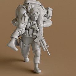 STL files Soldier 6, guaro3d