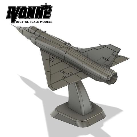 Download 3D printer files Mirage III Combat Aircraft 1:64 Scale Model, guaro3d
