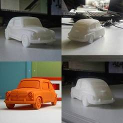 stl files Fiat 600 Scale Model, guaro3d