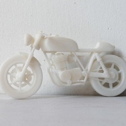 Free 3d printer files Moto Cafe Racer scalemodel, guaro3d