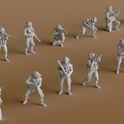 STL files Group 1 of Soldiers, guaro3d