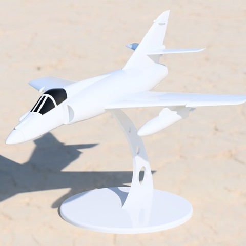 Download STL file Dassault Super Etendard scale model • Model to 3D print, guaro3d