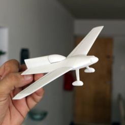 Fichier STL gratuit Easy to print Concept Aircraft, guaro3d