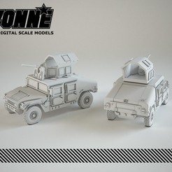 Descargar archivo STL Vehículo militar blindado Humvee • Objeto para imprimir en 3D, guaro3d