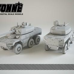 Télécharger plan imprimante 3D Véhicule militaire Nexter Jaguar 6x6 EBRC, guaro3d