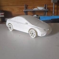 Descargar archivos STL gratis CHASIS OPENZ V25 (1:28 RC) con carrocería de coupé Civic 2007, guaro3d