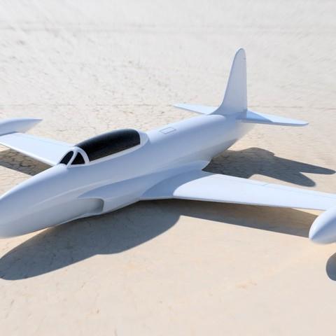 Download free STL file Facile à imprimer maquette avion jet T33 esc: 1/64 • 3D print object, guaro3d