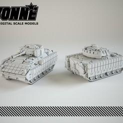 Imprimir en 3D M1A2 Vehículo de combate Bradley, guaro3d