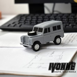 Download 3D printing templates Land Rover Type 88 1:43 Scale Radio Control model, guaro3d