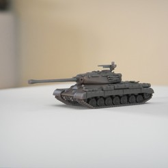 resin Models scene 2.443.jpg Download STL file IS-4 Object 701 Heavy Tank 1:64 Scale Model • 3D printable template, guaro3d