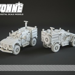 Descargar archivos STL Oshkosh M-ATV Vehículo Militar, guaro3d