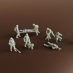 STL file Group 2 of Soldiers, guaro3d