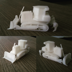 Download free 3D printing files  Easy to print Generic Bulldozer (esc: 1:100), guaro3d