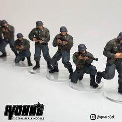 Descargar modelo 3D Grupo 1 Soldados alemanes de la Segunda Guerra Mundial, guaro3d