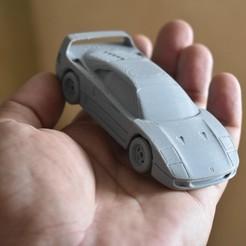 Descargar diseños 3D Ferrari F40 Super car a escala 1:64, guaro3d