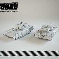 "Descargar archivo STL T-14 ARMATA ""OBJETO 148"" MBT RUSO • Objeto para impresión 3D, guaro3d"